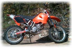 2002 KTM 400cc E/XC Racing 4 Stroke Motorcycle