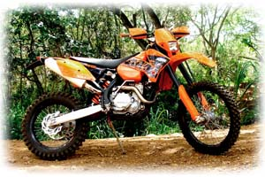 2007 KTM 400cc E/XC Racing 4 Stroke Motorcycle