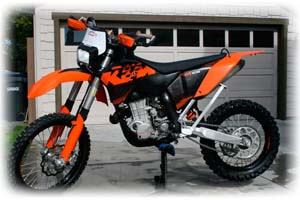 2009 KTM 400cc E/XC Racing 4 Stroke Motorcycle