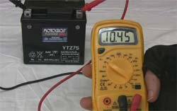 Voltmeter Battery Test
