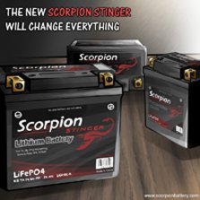 Scorpion Stinger Lithium batteries group photo
