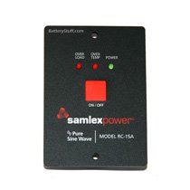 Samlex Remote Switch for PST 600 & 1000 Watt Inverters RC-15A