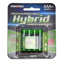 Rayovac Rechargeable AAA NiMH Batteries 4-Pack LD724-4A