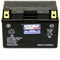 YT12A-BS Motocross 12v 175 CCA AGM Scooter & Motorcycle Battery