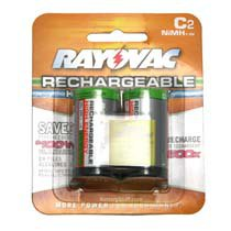 Rayovac C Cell NiMH Rechargeable Batteries 2 Pack PL714-2 GEN