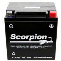 YIX30L Scorpion 12v 380 CCA AGM Power Sport & Motorcycle Battery