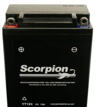 YT12C Scorpion 12v 180 CCA Sealed AGM Motorcycle Battery