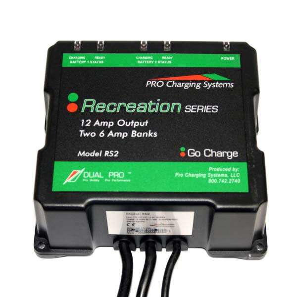 Marine Battery Charger And Monitor : Dual pro rs amp bank