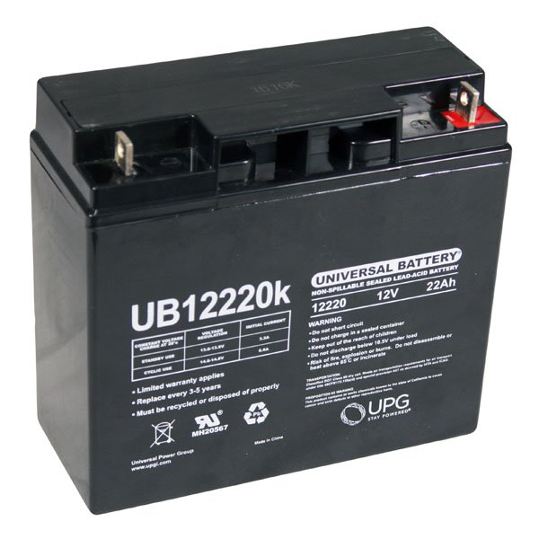 Universal 12 Volt 22 Ah Sealed Battery Ub12220