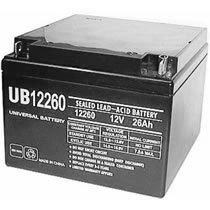 Universal 12v 26 AH Deep Cycle Sealed AGM Battery UB12260-D5747