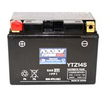 YTZ14S Motocross 12v 220 CCA AGM Scooter & Motorcycle Battery