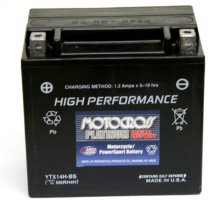 YTX14H-BS Motocross 12v 240 CCA Sealed AGM Motorcycle Battery