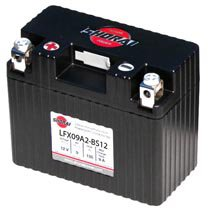 LFX09A2-BS12 Shorai 12v 9 AH PBEq LiFePO4 Power Sports Battery [+ -]
