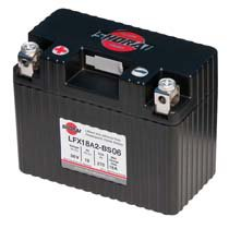 LFX18A2-BS06 Shorai 6v 18 AH PBEq LiFePO4 Power Sports Battery [+ -]