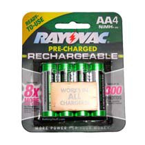 Rayovac Pre-Charged Rechargeable AA NiMH Batteries 4-Pack LD715-4OP