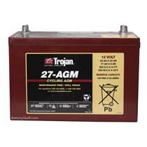 Trojan 12v 89 AH Deep Cycle AGM Sealed Battery T27-AGM