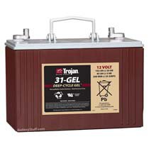 Trojan 12v 102 AH Deep Cycle Gel Battery T31-GEL