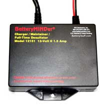 Battery MINDer 12 Volt 1.5 Amp On-board Charger Maintainer BM12151