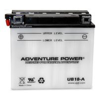 UB18-A Adventure Power 12v 235 CCA PowerSport Wet Battery w/ Acid Pack