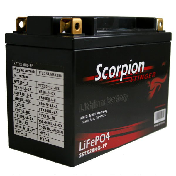 Sstx20hq Fp Scorpion Stinger 12v 525 Cca Lifepo4 Quad