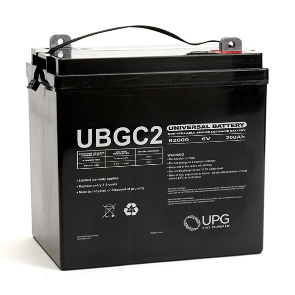 ubgc2 6 volt 200ah golf cart battery. Black Bedroom Furniture Sets. Home Design Ideas