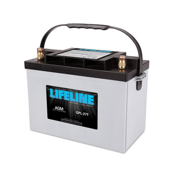 lifeline 12v 100 ah deep cycle sealed agm battery gpl 27t. Black Bedroom Furniture Sets. Home Design Ideas