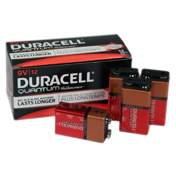 Duracell Quantum 9V Alkaline Battery 12 Pack - QU1604