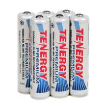 Tenergy Premium AAA Cell 1000 mAh NiMH Rechargeable Battery 6-Pack - AAA-10405x6