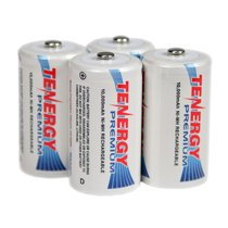 Tenergy Premium D Cell 10,000 mAh NiMH Rechargeable Battery 4-Pack - D-10105x4