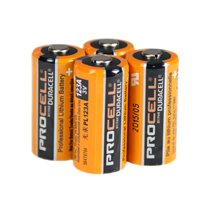 Duracell Procell 3v 123A Lithium Camera Battery 4-Pack - PL123Ax4